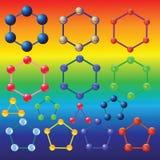 molekuły Zdjęcie Stock