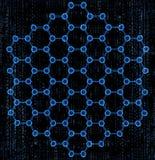 Molekuły heksagonalne Obrazy Royalty Free