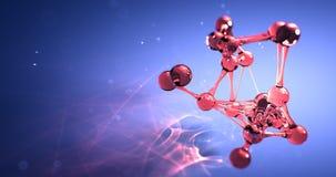 Molekuły lub atomu nano badawczy chemiczny pojęcie bezszwowa pętli animacja 8k 4k UHD zbiory