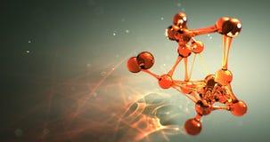 Molekuły lub atomu nano badawczy chemiczny pojęcie bezszwowa pętli animacja 8k 4k UHD zdjęcie wideo