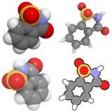 molekuły sacharyny słodzik Obrazy Stock