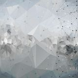 Molekuły struktura, tło dla komunikaci, royalty ilustracja