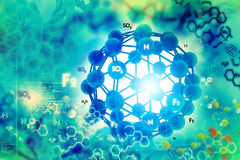 Molekuły tło royalty ilustracja