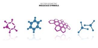 Molekuła set Zdjęcia Royalty Free