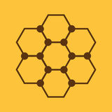Molekuły ikona Atom i chemia, dna, physics symbol mieszkanie Obrazy Stock