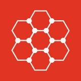 Molekuły ikona Atom i chemia, dna, physics symbol mieszkanie Zdjęcia Stock
