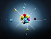 Molekuły lub atomu model Zdjęcie Royalty Free