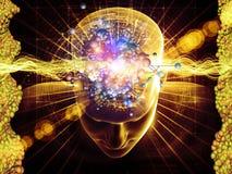Molekulare Gedanken stock abbildung