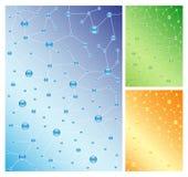 Molekulare Hintergründe lizenzfreie abbildung