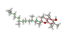 Molekulare Struktur von Vitamin E Lizenzfreie Stockbilder