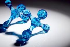 Molekularer Hintergrund stockbilder