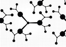 molekylär bakgrund royaltyfri illustrationer