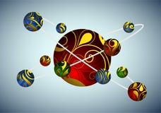 Molekylär illustration Royaltyfri Fotografi