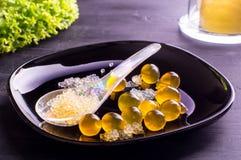 Molekylär kaviar och sfärer Arkivfoto