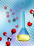 molekylär kemi stock illustrationer