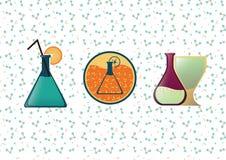 Molekylär kokkonst för logo, arkivfoto