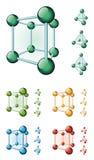 molekylär kub Arkivfoton