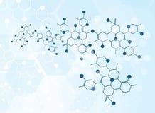 Molekylär medicinsk bakgrund royaltyfri illustrationer