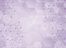 Molekylär medicinsk bakgrund stock illustrationer