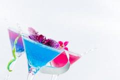 Molekylär mixology - coctail med kaviaren fotografering för bildbyråer