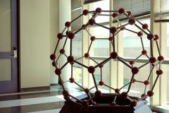 Molekylär modell - fullerene royaltyfria bilder