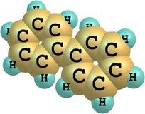 Molekylär struktur för Biphenyl på vit bakgrund Royaltyfri Foto