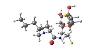 Molekylär struktur för Clindamycin som isoleras på vit vektor illustrationer