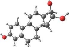 Molekylär struktur för Estriol Arkivfoton