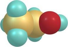 Molekylär struktur för Ethanol som isoleras på vit Royaltyfria Foton