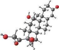 Molekylär struktur för Hydrocortisone Fotografering för Bildbyråer