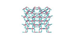 Molekylär struktur för krom- klorid som isoleras på vit Royaltyfria Bilder