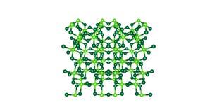 Molekylär struktur för krom- klorid som isoleras på vit Arkivfoto