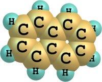 Molekylär struktur för Naphtalene på vit bakgrund Royaltyfri Bild