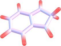 molekylär struktur 2H-indene på vit bakgrund Arkivbilder