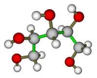 molekylär strukturxylitol Royaltyfria Foton