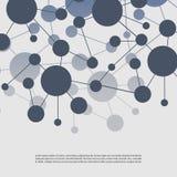 Molekylära anslutningar -, globalt, affärsnätverksdesign Arkivfoto