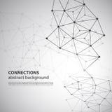 Molekylära, globala eller affärsnätverksanslutningar Fotografering för Bildbyråer