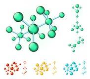 Molekylära strukturer Fotografering för Bildbyråer