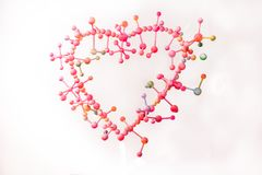 molekylärt av förälskelse med harmoni royaltyfri fotografi