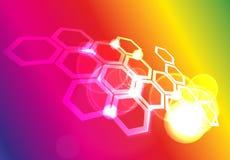 Molekylärt raster Royaltyfri Fotografi