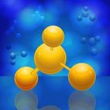 molekyl 3d Royaltyfri Illustrationer