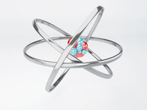 Molekyl atom på vit bakgrund Arkivbild