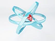 Molekyl atom på vit bakgrund Arkivfoton