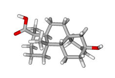 molekylär steviolstruktur Arkivbild