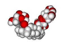 molekylär steviosidestruktur Royaltyfria Bilder