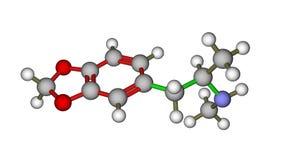 molekylär struktur för extasmdma Arkivfoton