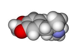 molekylär struktur för extasmdma Arkivfoto