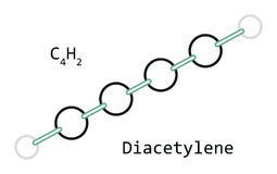 Molekyl C4H2 Diacetylene Royaltyfri Foto