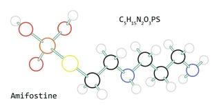 Molekyl C5H15N2O3PS Amifostine Arkivfoto