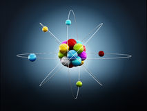 Molekyl- eller atommodell Royaltyfri Foto